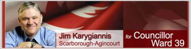 Jim Karygiannis Candidate City Council Ward 39 Scarborough-Agincourt